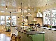 欧式厨房田园装修风格设计案例