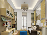 混搭客厅吊顶设计素材欣赏