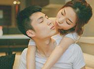 拥抱亲吻的甜蜜情侣图片