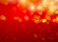 光晕红色PPT背景图片
