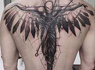 恶魔背部翅膀纹身图案大全