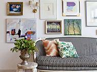 客厅时尚相片墙设计效果图