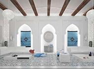摩洛哥复古纯白室内装修效果图