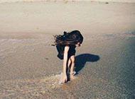 海边超个性女生图片唯美图片