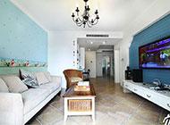 简约地中海风格时尚客厅背景墙设计