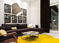 客厅英伦现代装修风格创意时尚