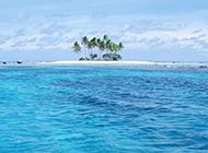 淡蓝色海水背景图片素材