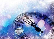 璀璨星光唯美的时钟背景高清图片