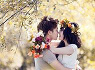 幸福亲吻情侣图片唯美图片