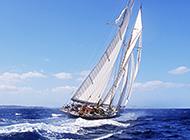 带帆船的ppt幻灯片背景图
