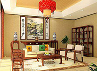 中式别墅客厅装修效果图大气奢华