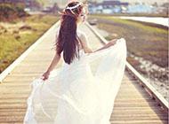 森系婚纱唯美个性90后女生图片