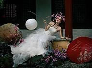 古典美女唯美婚纱写真经典壁纸