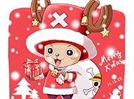 乔巴圣诞节主题精美动漫图片