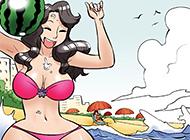 色小组系列漫画之在海边的小技俩