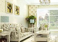 小清新欧式田园风格客厅装修效果图片