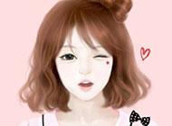 韩版漫画水彩画素材图片