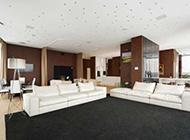 复式公寓现代奢华装修效果图