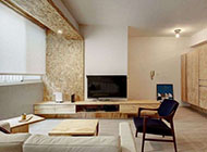 日式个性简约客厅电视背景墙效果图