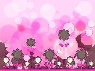 粉色可爱卡通背景高清图片