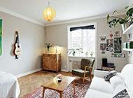 北欧小清新风情单身公寓装修效果图