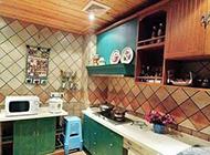 开放式厨房简约现代风格装修效果图