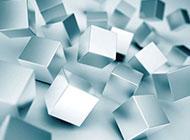 银白色立体方格个性背景图