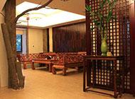 新中式玄关设计木雕隔断屏风创意复古