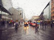 八月下雨天唯美意境图片