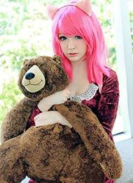 英雄联盟安妮cosplay头发图片