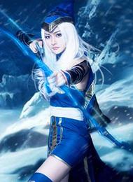 日本动漫cosplay美女英雄联盟寒冰射手图片
