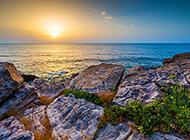 精选好看的海边黄昏风景图片