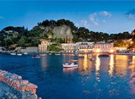 美丽的意大利西西里岛海景图