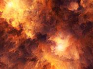 傍晚漂亮的火烧云图片