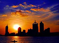 城市黄昏高清图片展现唯美意境