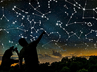 人望星空唯美风景摄影图片