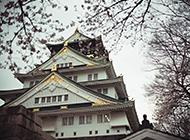 日本大阪府天守阁景色图片