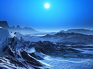 唯美好看的雪山星空风景图片