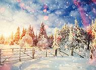 好看的冬天雪景图片素材