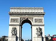 法国凯旋门唯美风景图片欣赏