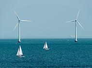 海上风车唯美景色图片