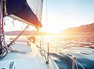 航海时拍下美丽的海景图片