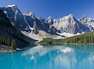 重峦叠嶂的山脉高清景色图片