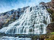 优美的瀑布山水风景摄影图片