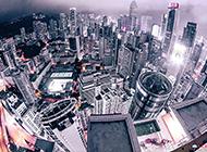 繁华的城市高清俯视图片欣赏