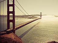 唯美的跨海大桥摄影ppt背景图片
