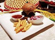 美味的黑椒牛肉汉堡图片
