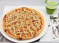 意式香菇火腿披萨图片