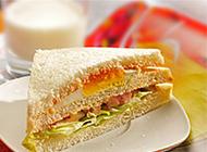 美味可口的自制三明治图片欣赏