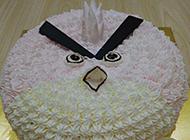 愤怒的小鸟奶油蛋糕造型图